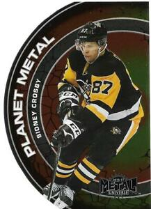 2016-17 Fleer Showcase Metal Universe Planet Metal #PM15 Sidney Crosby - NM-MT