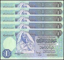 Libya 1 Dinar X 5 Pieces (PCS), 1993, P-59b, UNC