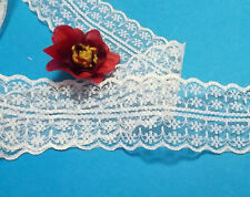 5 metres Off White / Ivory  Net Lace Trim 45 mm # 6CM10R