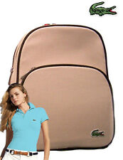 LACOSTE Backpack Rucksack Bag Classic 2.18 Canvas Beige