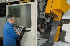 667087 CNC Turning Machine Tool A4 Photo Print