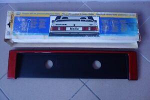 NOS FORD SIERRA 2 MK2 Hella RS Coworth Rear License Plate Panel Heckblende RARE