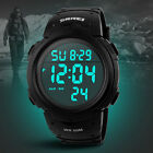 WDS High Quality Unisex Date Alarm Waterproof LCD Military Sports Digital Watch