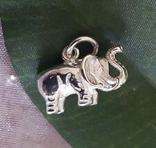 925 Sterling Silver Elephant Trunk Up Lucky Minimalist Pendant Charm Fertility
