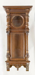 Gustav Becker 3 weight Vienna regulator clock case only @ 1890 Fancy