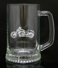 Personalised Engraved Pint Glass Tankard - Harley Davidson Design, Gift Box