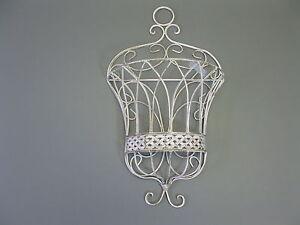 Cestino da Parete Cestino per Fiori Decorativo Mensola Shabby Chi 50cm