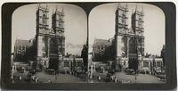 Abbazia di Westminster Londra UK Fotografia Stereo Vintage Analogica