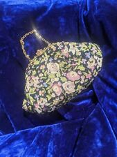 ANTIQUE 1920S HAND PETIT POINT EMB AND HAND BEADED PURSE MADE IN FRANCE