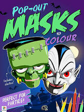 Pop-Out Masks to Colour by Hinkler Books (Novelty book, 2016)