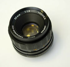 YASHICA YASHINON DS 50MM , F1.9  M42 SCREW PRIME LENS. IDEAL FOR mirrorless