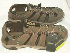 EDDIE BAUER BLAKELY SHITAKE BROWN WOMEN'S LEATHER SANDALS CLOSED TOE SHOES SZ 10