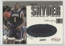 2004 Sage Auto Basketball Authentic Jersey Silver /50 Kirk Snyder #Js12 Rookie