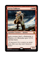 1x FOIL Lovisa Coldeyes, Duel Deck, EDH Commander Tribal Warrior Barbarian Red