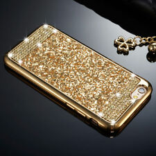 Luxury Glitter Bling Diamond Soft TPU Case Back Cover For iPhone Samsung Galaxy