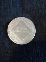 11636) Stones Original coaster silver-tone w felt backing 6.5cm diameter