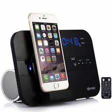 Apple iPhone X/8/+7+ Speaker Docking Station w/ Bluetooth FM Radio Alarm Clock