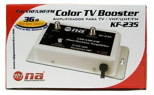 36 DB Cable Antenna Color TV Booster Signal Amplifier VHF UHF FM HDTV