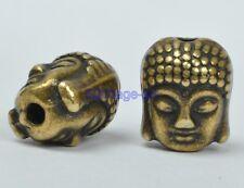 10PCS 20Pcs  Tibetan Silver Gold Buddha's Head Loose Beads Jewelery DIY Charms
