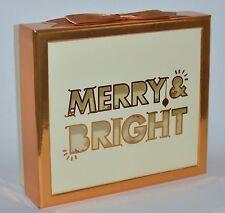 New Bath & Body Works Gold Glitter Merry Bright Gift Box Set Wrap Organizer Cute