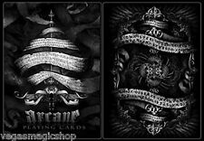 Arcane Black Deck Playing Cards Poker Size USPCC Custom Limited Ed. New Sealed