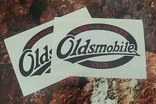 OLDSMOBILE National  Antique Club Stickers 100mm x 88mm