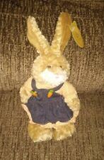 March of Dimes Easter 2003 Bunny Rabbit Peaches Overalls Country Plush Beanbag