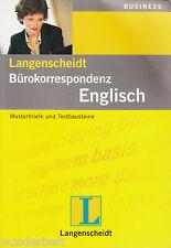 LANGENSCHEIDT - Correspondencia de la oficina INGLÉS 2001)