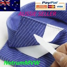20pcs White Plastic Shirt Collar Stays Straightener Stiffener 2.5 Inch 62.5 mm