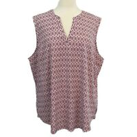 Eddie Bauer Womens Departure Collection Travelers Sleeveless Top Plus Size 2X