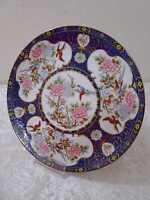 Porcelana Diseño Placa Decorativa - Japón - Crisantemos Flores Pájaro