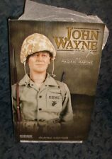 "SALE! XRARE,NIB-12""SIDESHOW JOHN WAYNE ACTION FIGURE-TOUGH WW2 SARGEANT STRIKER-"