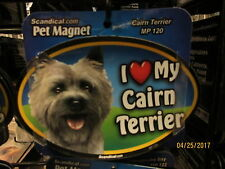 New listing I Love My Cairn Terrier 6 inch oval magnet for car or anything metal New