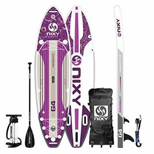 "Newport Paddle Board All Around Inflatable SUP 10'6"" x 33"" x 6"" Ultra Purple"