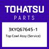 3KYQ67645-1 Tohatsu Top cowl assy (service) 3KYQ676451, New Genuine OEM Part