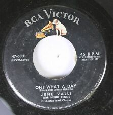 50'S & 60'S 45 June Valli - Oh! What A Day / Don'T Tell Me Not To Love You On Rc