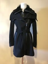 BCBG Maxazria Womens Black Coat SZ S
