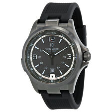 Victorinox Night Vision GMT Black Dial Black Rubber Mens Watch 241596