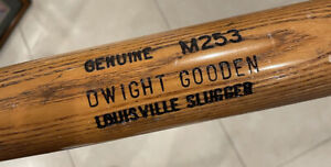 Dwight Gooden Game Used Bat New York Mets