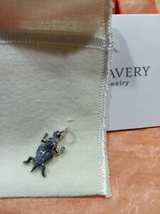 Retired James Avery Horned Toad 3D Charm Sterling Silver 925