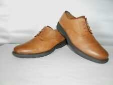 Men's Nunn Bush Comfort Gel Tan Leather Dress Casual Oxfords Size 10 D