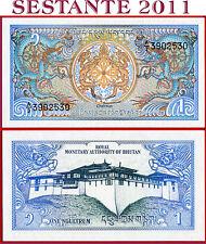BHUTAN -  1 NGULTRUM  nd 1986    -   P 12b   -   FDS / UNC