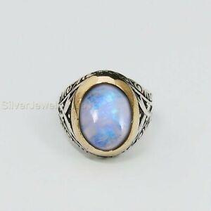 Turkish Handmade 925 Sterling Silver White Moonstone Men's Ring All Sizes P751