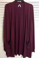 New Women's Juniors Mudd Knit Cardigan Sweater Merlot Purple Size L #180923-530