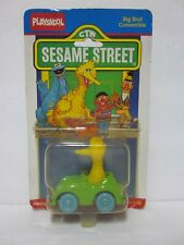 Vintage 1987 Playskool Sesame Street Big Bird Convertible Green Diecast Car