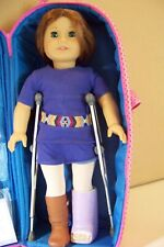 American Girl Doll Brave Emily with cast, shoes and other accessories