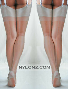 "Eleganti RHT ""Diamond Sheen' Stockings / Nylons - SILVER - imperfects"