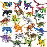 Dinos fit Block Jurassic World Dinosaur Tyrannosaurus TRex Park VelociRaptor Toy