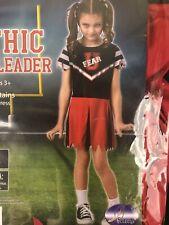 Girls S (4-6) Gothic Cheerleader Halloween Costume