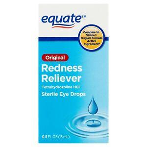 Equate Original Redness Reliever Sterile Eye Drops, 0.5 fl oz.